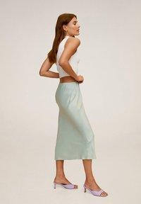 Mango - BIAS - A-line skirt - wassergrün - 3
