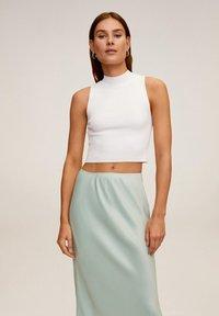 Mango - BIAS - A-line skirt - wassergrün - 4