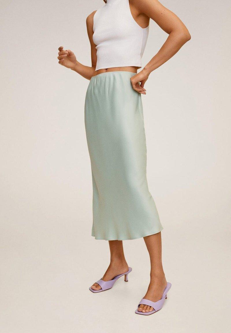 Mango - BIAS - A-line skirt - wassergrün