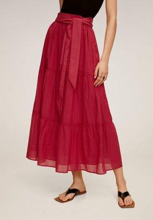 SCHLEIFE - Pleated skirt - fuchsia