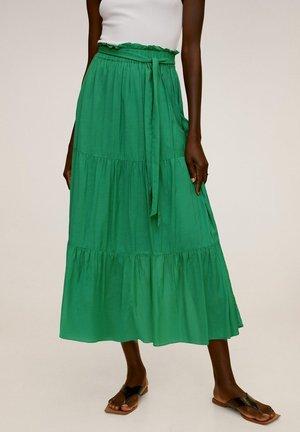 SCHLEIFE - Pleated skirt - grün