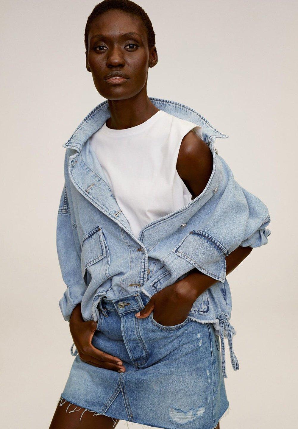 MONICA Jupe en jean middenblauw