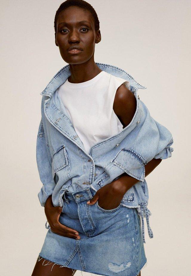 MONICA - Spódnica jeansowa - middenblauw