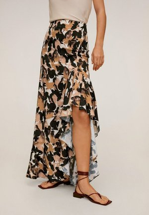MANCHA-A - Maxi skirt - karamell