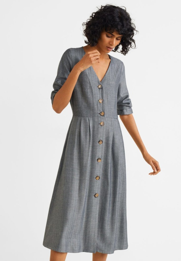 Mango - ESPI - Shirt dress - grez