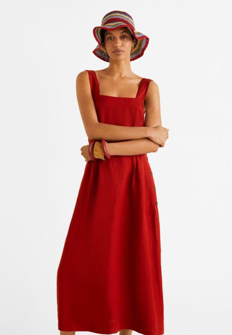 Mango - BLUSH - Robe chemise - red