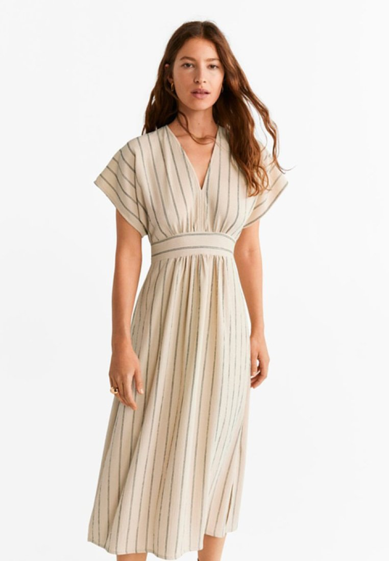 Mango - BAMBU - Maxi dress - ecru