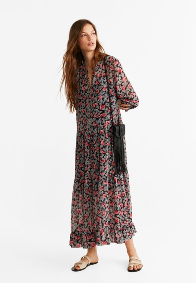 Mango - Maxi dress - black