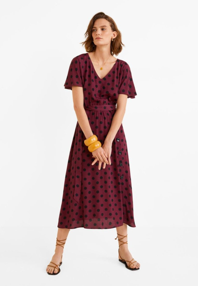 Mango - ZEBRA - Day dress - bordeaux