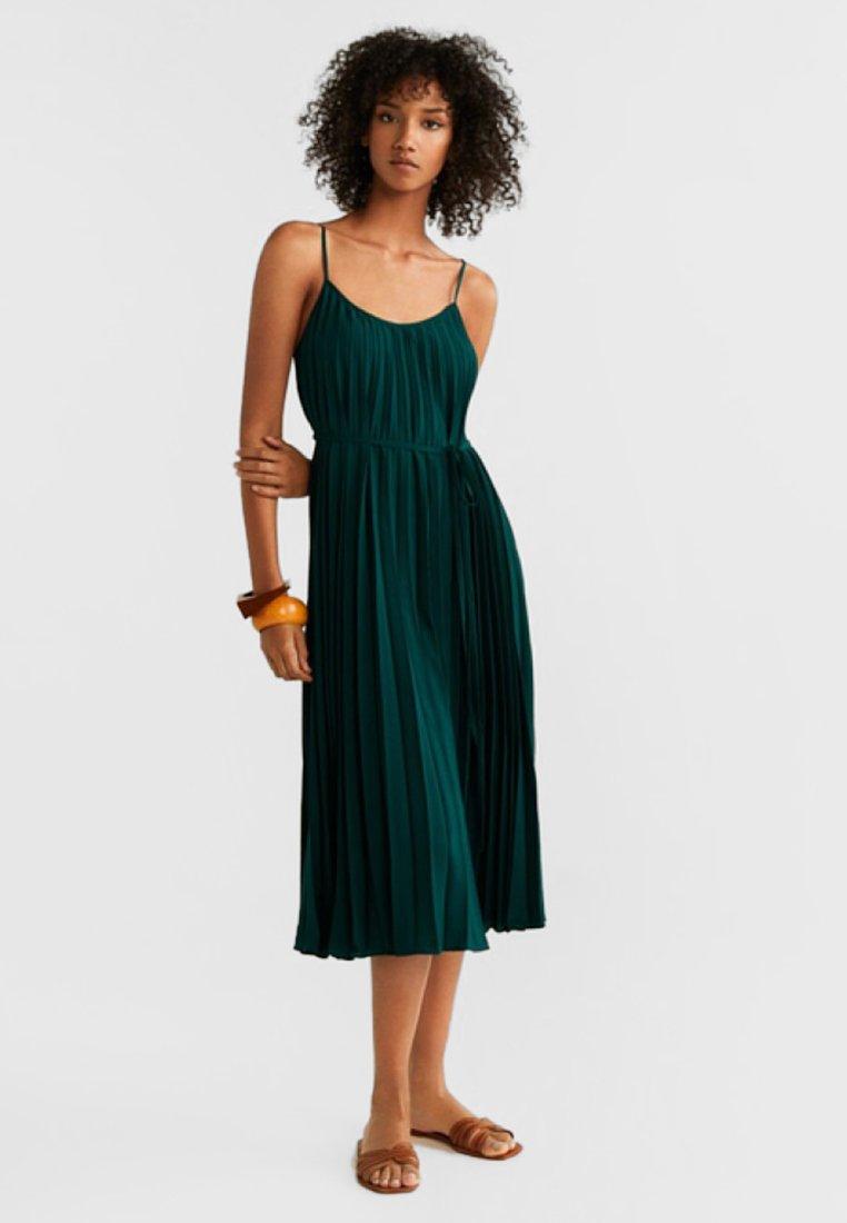 Mango - PLISADO - Maxi dress - green