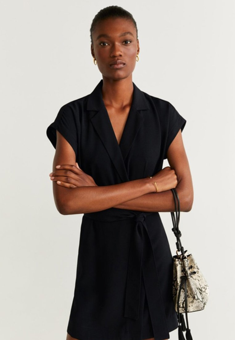 Mango - GARAZINI - Shirt dress - black