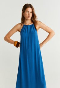 Mango - ORIENTA - Robe longue - neon blue - 2