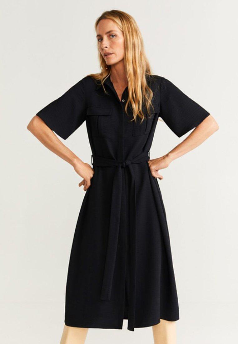 Mango - Robe chemise - black
