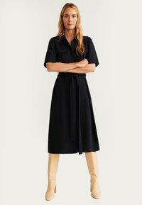 Mango - Shirt dress - black - 1