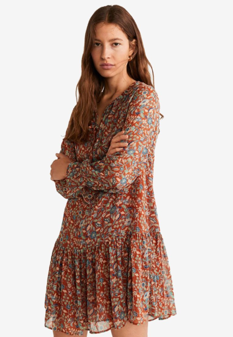 Mango - BARD - Day dress - red/brown