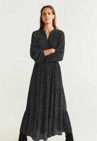Mango - TOPI - Robe longue - black - 0