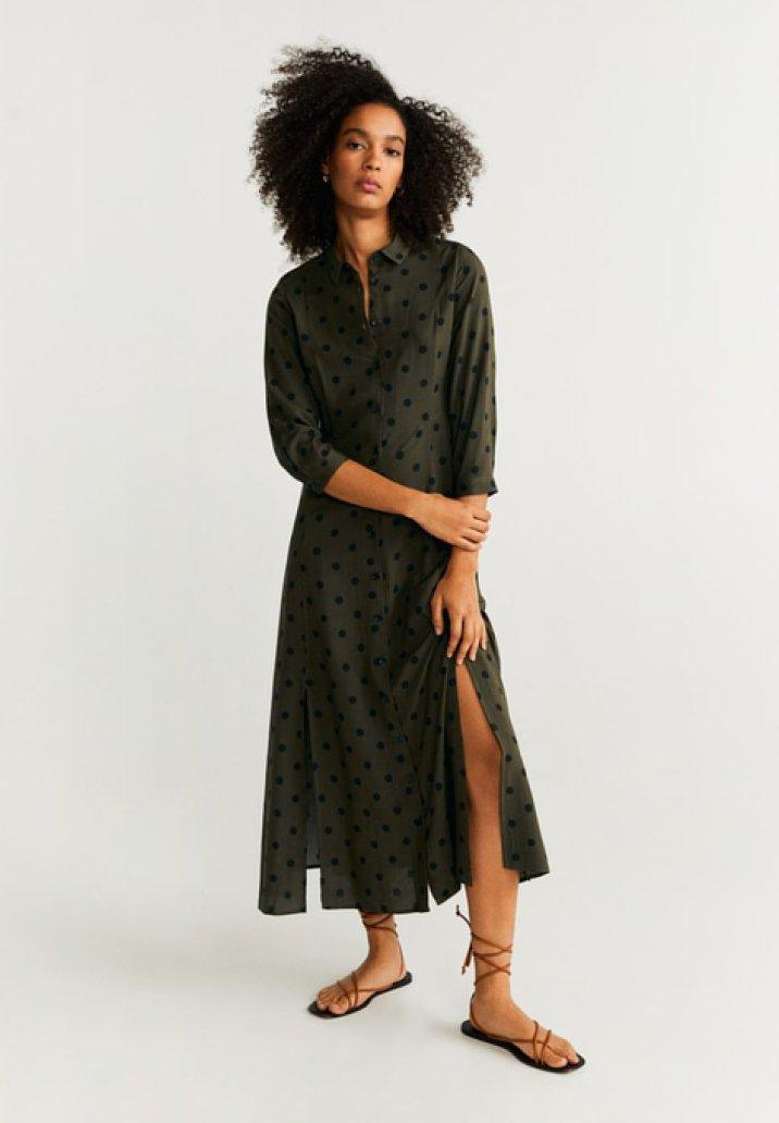 Mango - APPLE  - Robe chemise - khaki