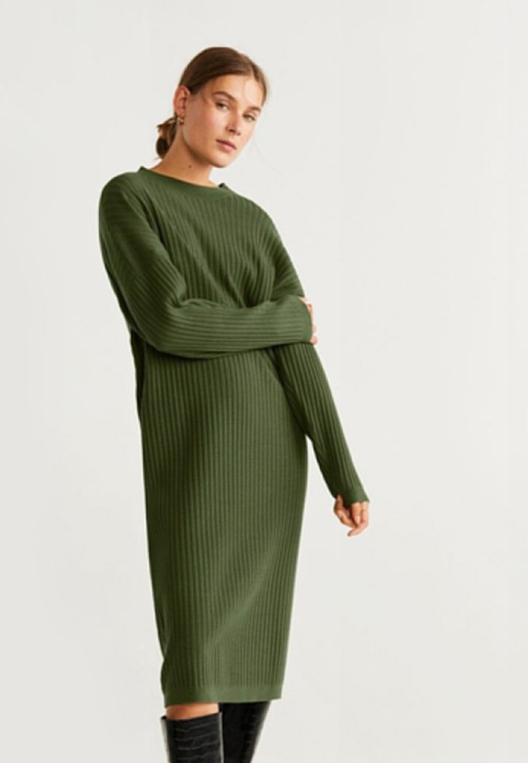 Mango - HUNTER - Jumper dress - khaki