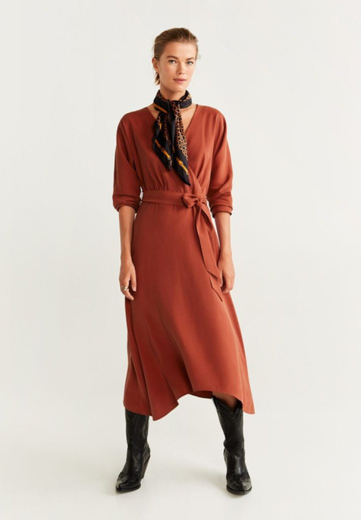 Mango - GEMA - Day dress - Orange/red