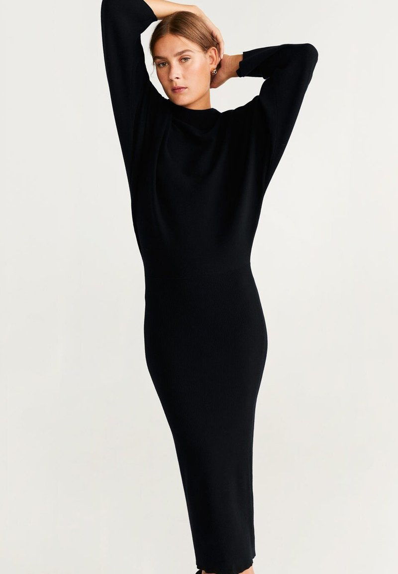 Mango - BOOMERAN - Jumper dress - black