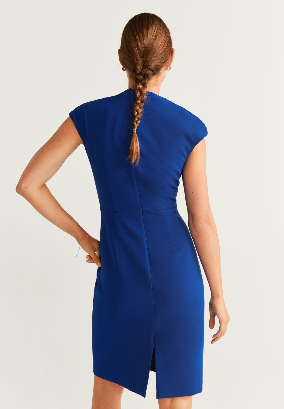 Mango Robe fourreau - bleu blue