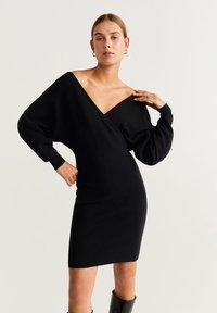 Mango - NESSA - Robe pull - black - 0