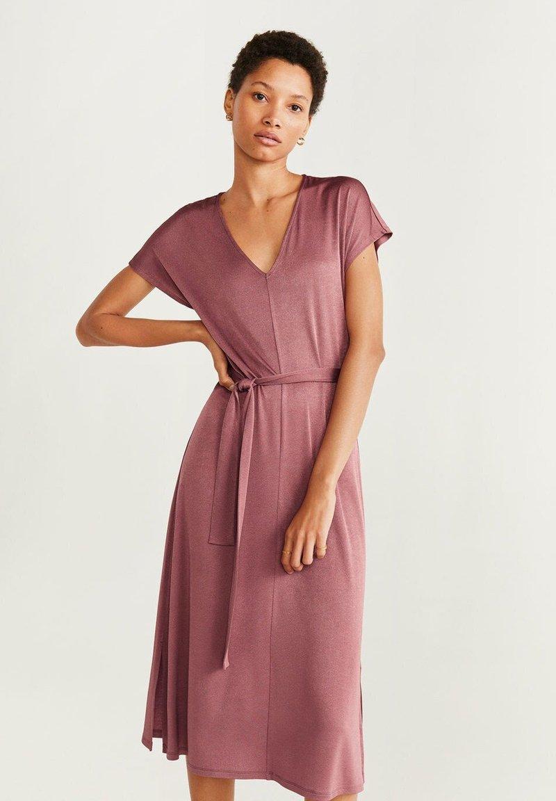 Mango - SATIN - Day dress - pink