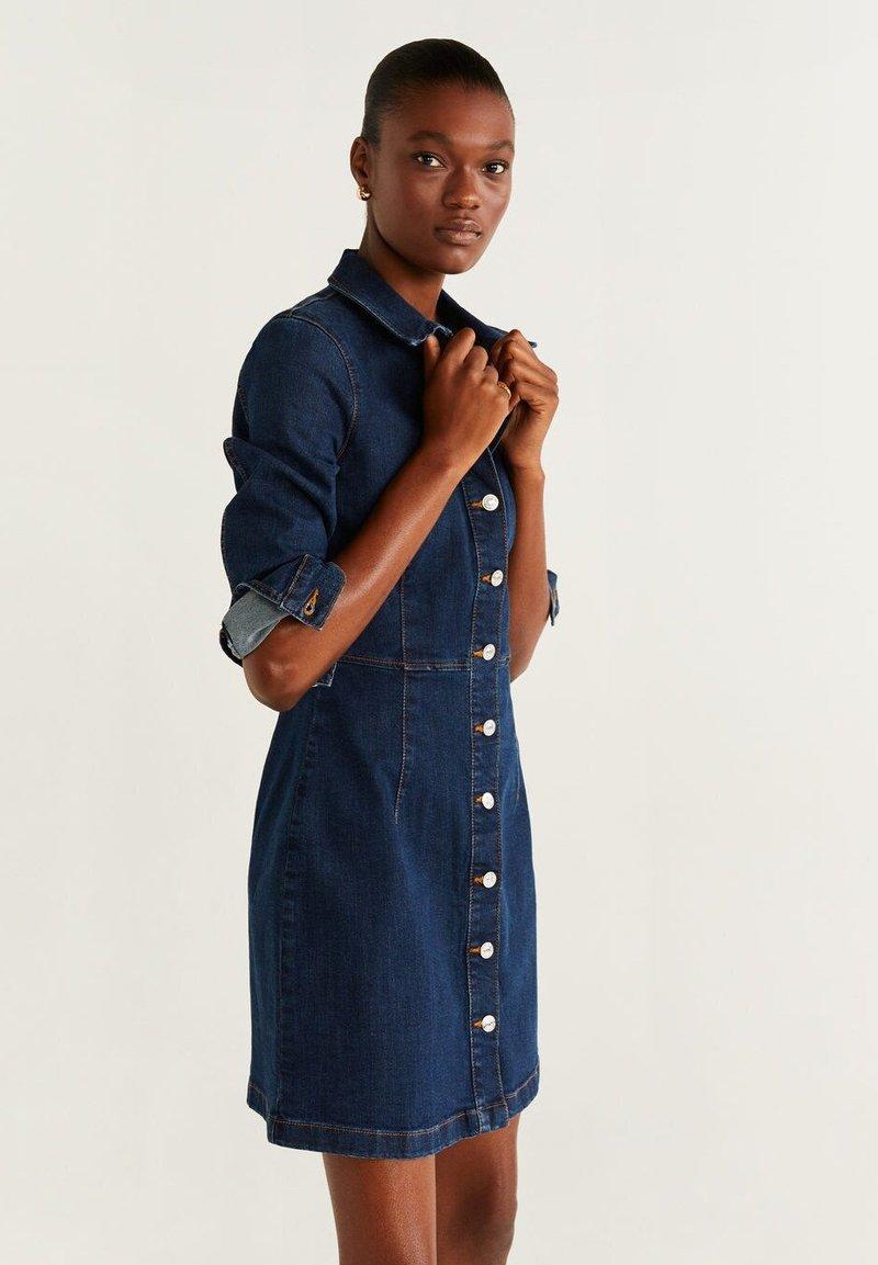 Mango - LIS - Jeanskleid - dark blue