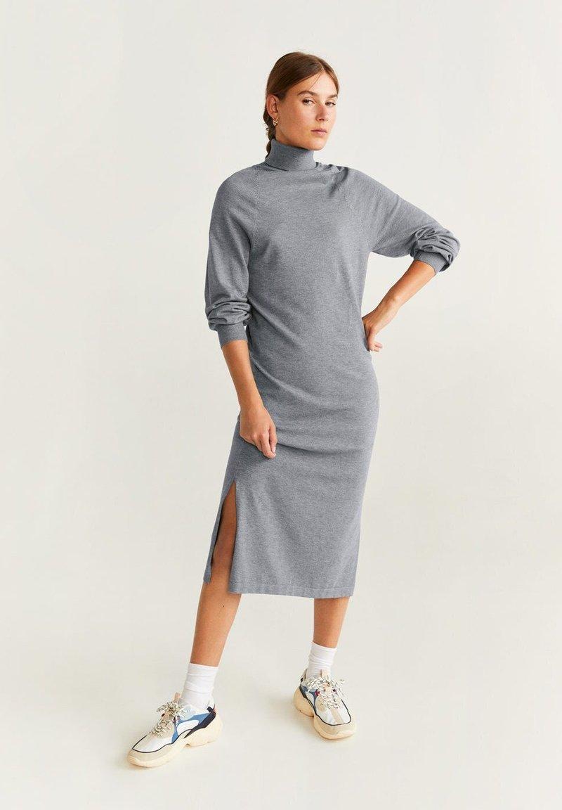 Mango - OOLONG - Jumper dress - mottled medium gray