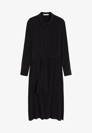 DOTTY - Shirt dress - black
