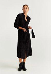 Mango - DOTTY - Robe chemise - black - 0