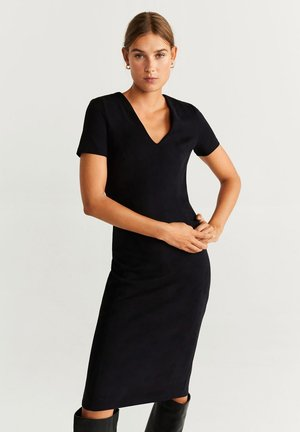 SUSAN - Shift dress - black