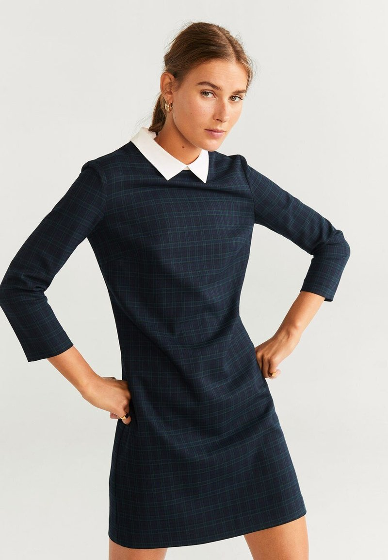 Mango - TECLA - Shirt dress - navy blue