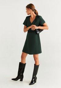 Mango - AUDREY - Korte jurk - dark green - 1