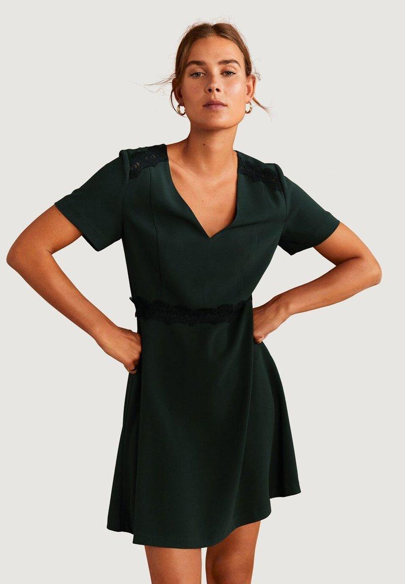 Mango - AUDREY - Korte jurk - dark green