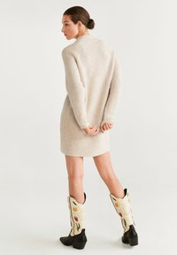 Mango - GOFRADO - Jumper dress - light grey