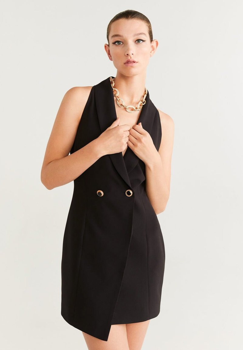 Mango - SMOCK - Shift dress - black