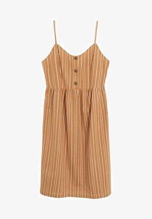 ESTRELAP - Korte jurk - tobacco brown