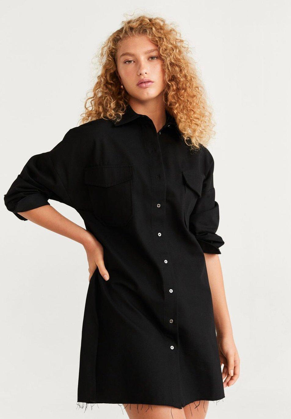 Mango AUSTINC - Skjortklänning - black