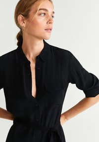 Mango - NINGBOX - Shirt dress - black - 2