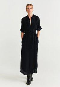 Mango - NINGBOX - Shirt dress - black - 0