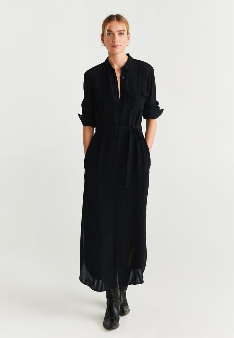 Mango - NINGBOX - Shirt dress - black