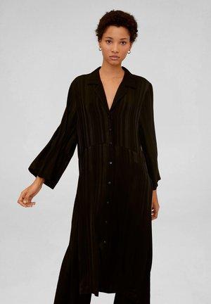 MEDUSA - Vestido camisero - black