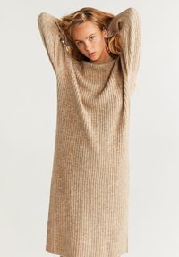 Mango - SOUL - Strikket kjole - medium brown - 0