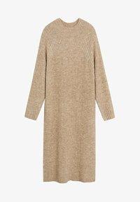 Mango - SOUL - Strikket kjole - medium brown - 3
