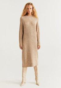 Mango - SOUL - Strikket kjole - medium brown - 1