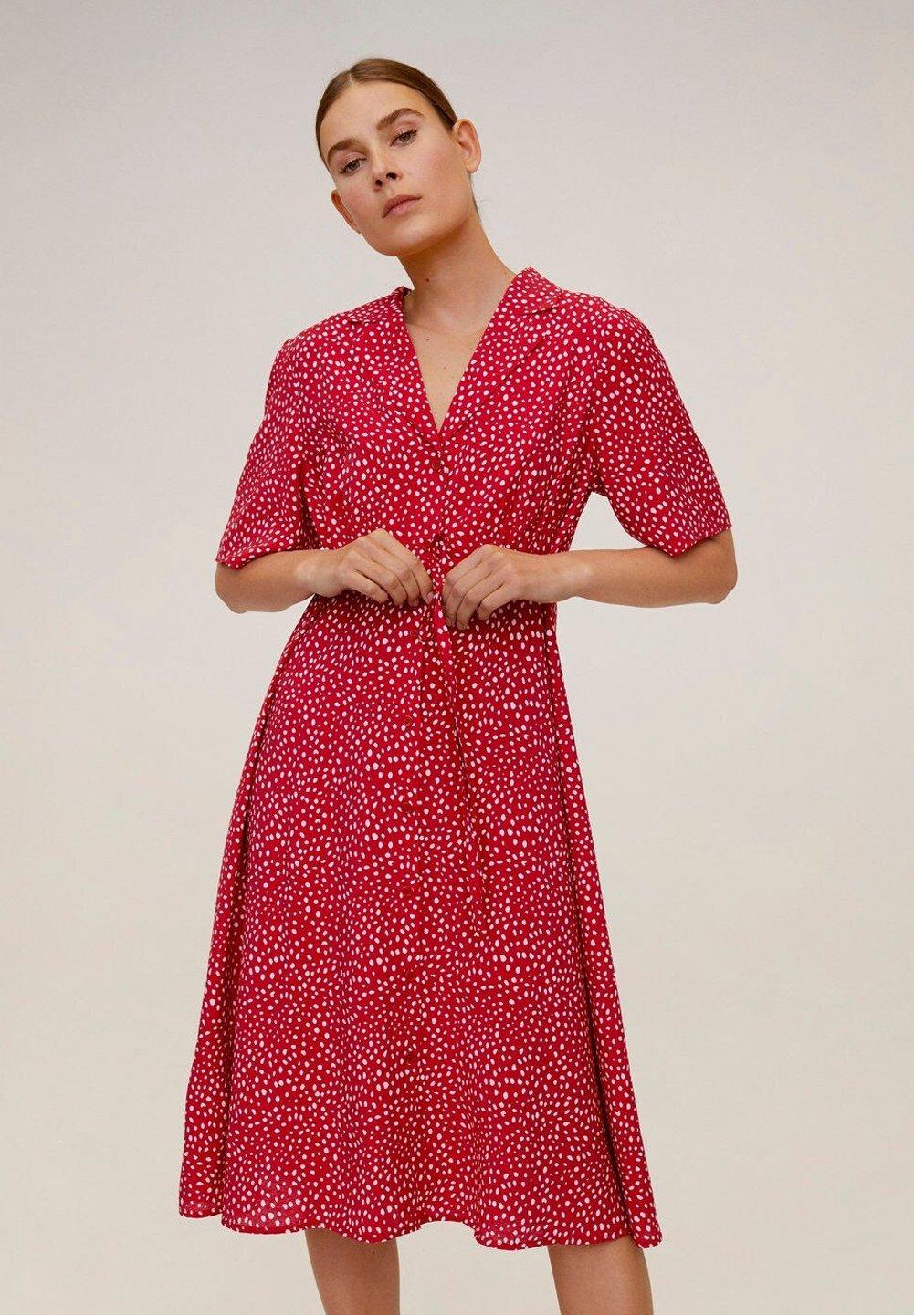 Mango GRECO-H - Sukienka koszulowa - red