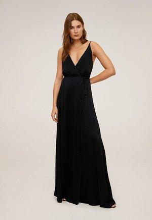 LONGUS - Vestito lungo - black