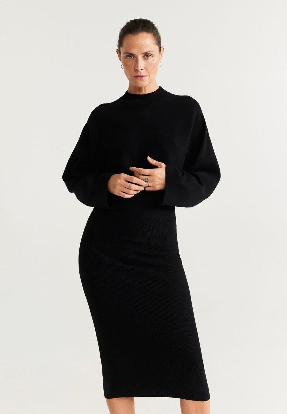 Mango Bomerang - Shift Dress Black