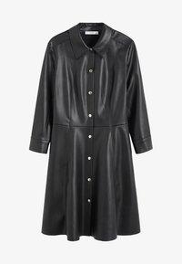Mango - SKIN - Shirt dress - black - 3